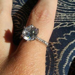 White Sapphire set in 14k white gold!